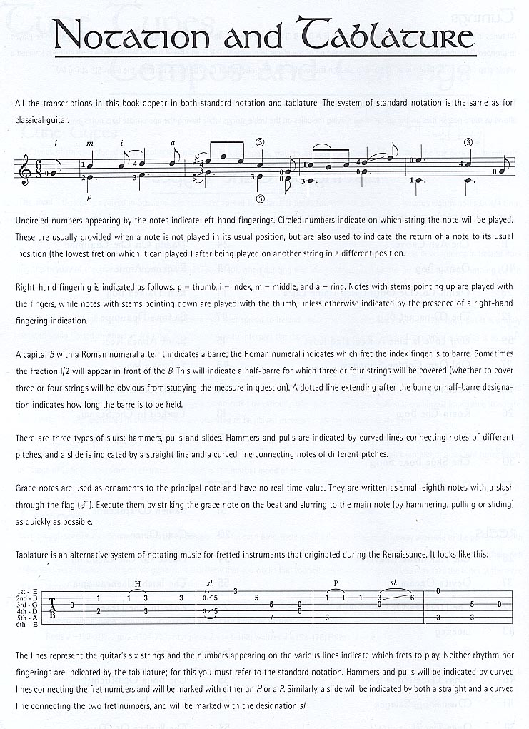 How to Read the Music Notation and Tab.